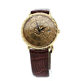 BUCCELATI 18K Yellow Gold Audachron Automatic 38mm Wristwatch Ref: 5111