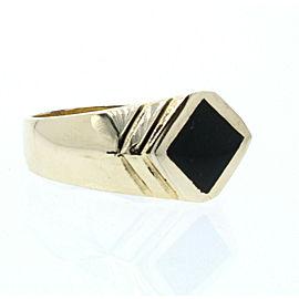 ESTATE 14k Yellow Gold Onyx ring 9.4 Grams Size 10