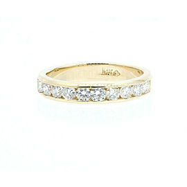 Estate 14k Yellow gold 1.00ct Round Diamonds Men's Band Ring Size 9