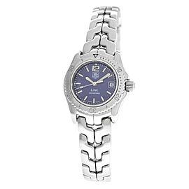 Ladies Tag Heuer Link WT1415 Steel Date Quartz 27MM Watch