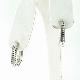 John Hardy Dot Rectangle Drop Earrings 21mm Sterling Silver