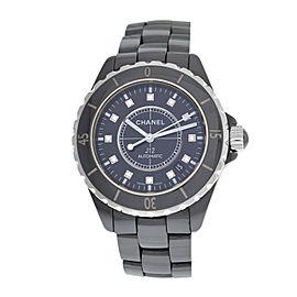Unisex Chanel J12 H0685 Diamond Ceramic Date Automatic 39MM Watch