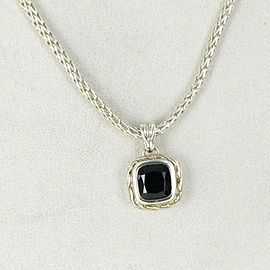 John Hardy Classic Chain Classic Chain Magic Cut Pendant Necklace Onyx Sterling