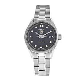 Ladies Tag Heuer Carrera WV2410.BA0793 Diamond Steel Automatic 27MM Watch