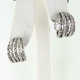 John Hardy Classic Chain 5 Row Hoop Earrings Small Sterling