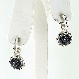 John Hardy Kali Lavafire Sapphire Drop Earrings Sterling