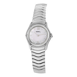 Ladies Ebel 9157F11 Quartz Steel MOP Diamond 24MM Watch