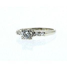 14k White Gold .60ct Round Diamonds Ladies Ring Size 8