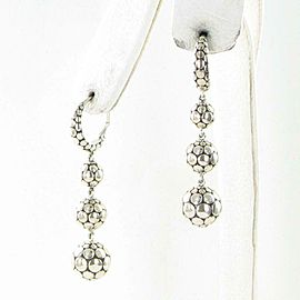 John Hardy Dot Ball Triple Drop Earrings 52mm Sterling Silver EB39245