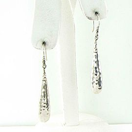 John Hardy Classic Chain Hammered Drop Earrings 58mm Sterling EB999579