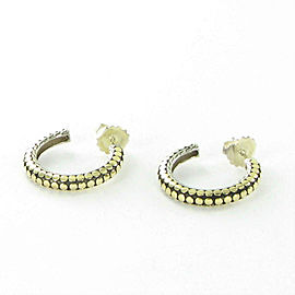 John Hardy Dot Hoop Earrings Small 18k Yellow Gold Sterling 925