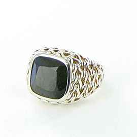 John Hardy Classic Chain Blue Labradorite Ring Sterling Sterling Silver