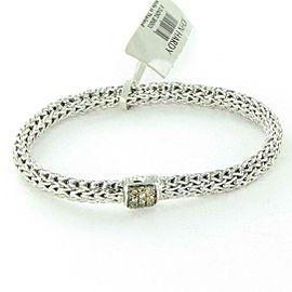 John Hardy Classic Chain 6.5mm Bracelet Champ Diamond Clasp Sterling