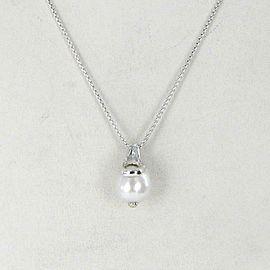 John Hardy Bamboo White Pearl Pendant Necklace NB5993x16-18