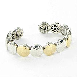 John Hardy Palu Flex Cuff Bracelet 18k Yellow Gold Sterling Silver