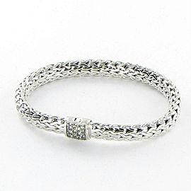 John Hardy Classic Chain 7.5mm Bracelet Grey Sapphires Clasp Sterling
