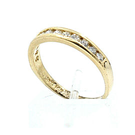 Fine Estate 14k Yellow gold .75ct Diamond Men's Ring Band Size 8
