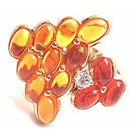 Mauboussin Paris 18k Rose Gold Diamond Tourmaline Citrine Ring