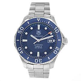 Authentic Men's Tag Heuer Aqua Racer WAN2111.BA0822 Automatic 41MM Watch
