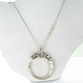 John Hardy Legends LARGE Naga Pendant Necklace Spinel Blk Blue Sapphire Sterling