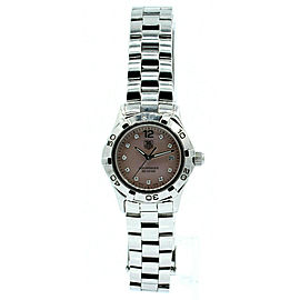 Ladies Tag Heuer Aquaracer Pink Mother of Pearl and Diamond dial Watch WAF141A