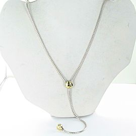 John Hardy Classic Chain Hammered Y Necklace Lariat 18K Sterling Silver Chain