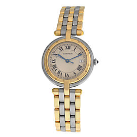 Ladies Cartier Panthere Vendome 183964 Three Row Gold Steel Quartz 30MM Watch