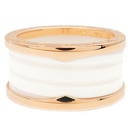 Authentic BVLGARI B-zero1 Ring Size M Rose Gold White #60 US9.5 EU60.5 Used F/S