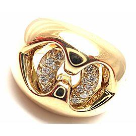 BULGARI BVLGARI 18k Yellow Gold Diamond Ring