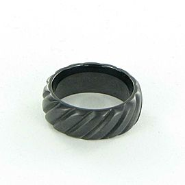 Mens David Yurman Black Titanium 9mm Ring Modern Cable Band Size 10