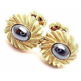 Tiffany & Co Jean Schlumberger 18k Yellow Gold Hematite Cufflinks