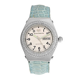 Ladies Technomarine Techno Diamond Day Date Quartz 36MM Watch