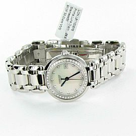 New Longines PrimaLuna L81100876 Diamond Bezel MOP Dial 26.5mm Ladies Watch