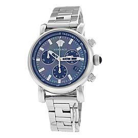 Versace Day Glam VLB08 0014 Stainless Steel 38MM MOP Chrono Quartz Watch