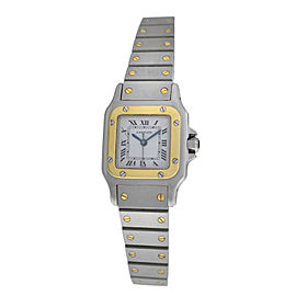 Ladies Cartier Santos Galbee 18K Yellow Gold Automatic 24mm Watch