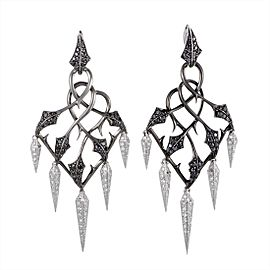 Stephen Webster Fly By Night 18K White Gold with 2.25ct Diamond Chandelier Earrings