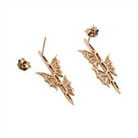 Stephen Webster 3016997 Metal: Rose Gold Weight: Total Weight 6.8 Grams, Individual Earring Weight 3.4 Grams Stones: Diamond Signatures: Stephen Webster Included Items: Manufacturer's Box Rose Gold Diamond Womens Earrings