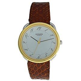 Men's Unisex Hermes Arceau AR3.720 Steel Gold Quartz 33mm Watch