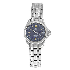 Ladies Omega Seamaster 596.1501 Stainless Steel Date Quartz 28MM Watch