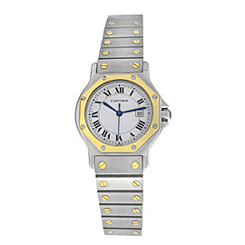 Unisex 30mm Cartier Santos Octagon Steel 18K Yellow Gold Automatic Watch
