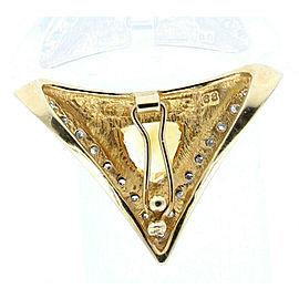 14k Yellow Gold Shield Citrine Diamond Chevron Slider