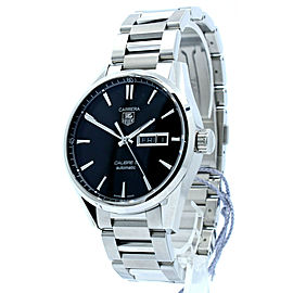 Tag Heuer Carrera Calibre 5 Steel Automatic Day Date 41mm Men's Watch WAR201A