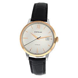 New Men's Montblanc Heritage Spirit 111624 Steel Gold Automatic 39MM Watch