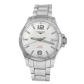 Men's Longines Conquest V.H.P. L3.716.4.76.6 Steel Quartz Date 41MM Watch
