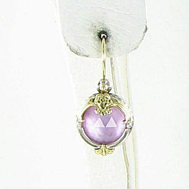 Konstantino Iliada Pink Ice Drop Pendant Earrings 18K Gold Sterling Silver
