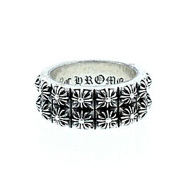 CHROME HEARTS 925 Sterling Silver Double Pete Punk Cross Ring Size 10.25