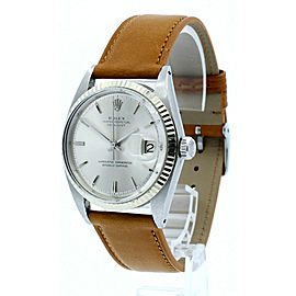 ROLEX Oyster Perpetual Datejust Stainless Steel White Gold 36mm Men's Watch