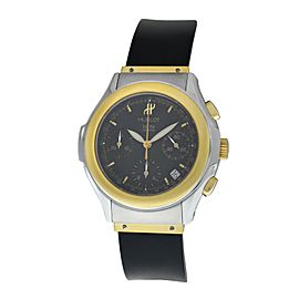 Men's Hublot MDM Geneve 1810.2 Steel Gold Chronograph Automatic 40MM Date Watch