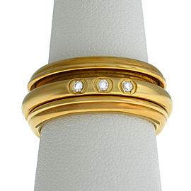 New Piaget Possession 18K Yellow Gold 14 grams Diamond Size 7 Rotating Ring