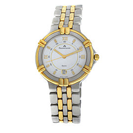 Ladies' Maurice Lacroix 95327 Gold Electroplated Steel Quartz 35MM Date Watch